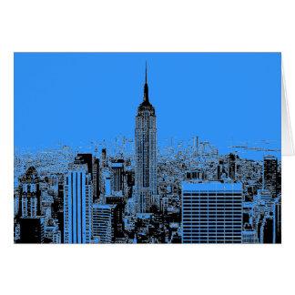 Noche azul de New York City Felicitaciones