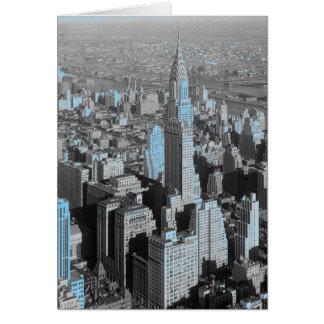 Noche azul de New York City Tarjeta De Felicitación