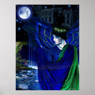 Noche azul póster