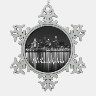 Noche b/w de Philly Adorno De Peltre En Forma De Copo De Nieve