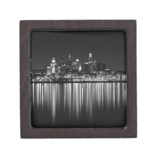 Noche b/w de Philly Cajas De Recuerdo De Calidad