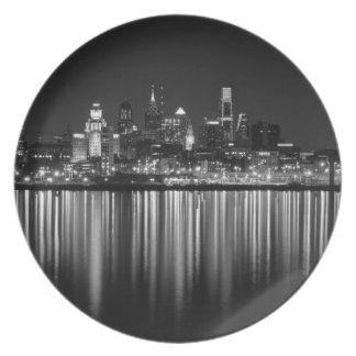 Noche b/w de Philly Platos De Comidas