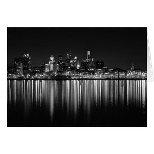Noche b/w de Philly Tarjetón