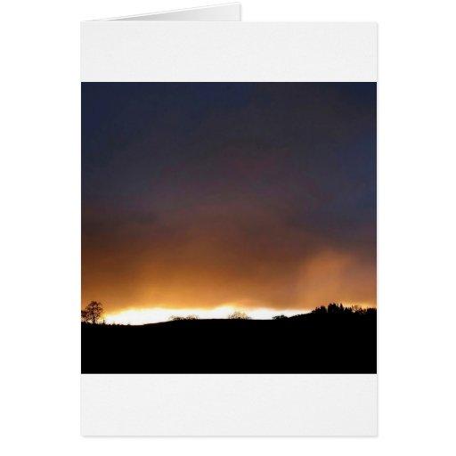 Noche blanca del cielo tarjeta de felicitación