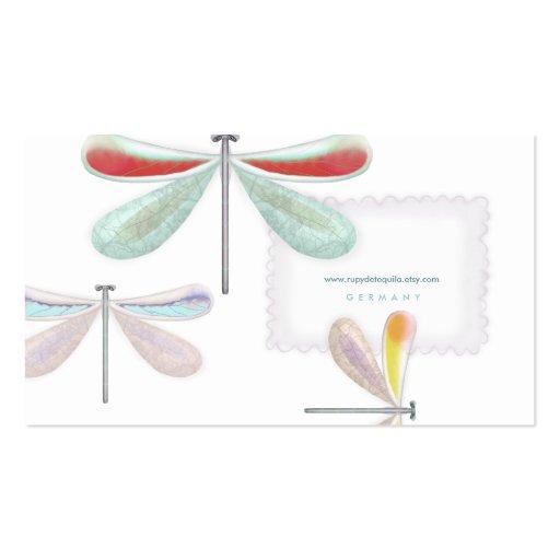 Noche Busi de seda delicado de la mariposa del ama Plantillas De Tarjeta De Negocio