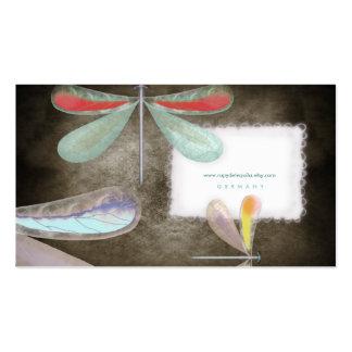 Noche Busi de seda delicado de la mariposa del ama Plantilla De Tarjeta Personal