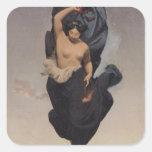 Noche, c.1850-55 pegatina cuadrada