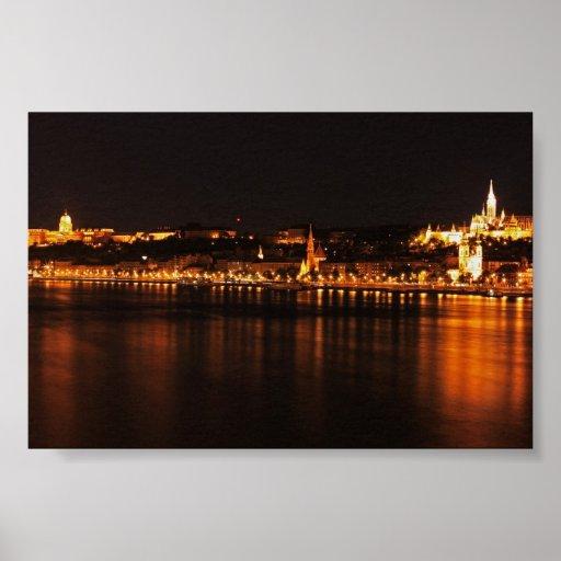 noche caliente de Budapest Póster