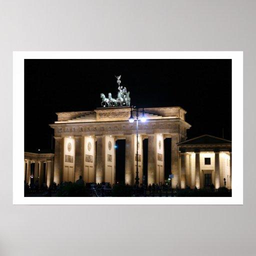 noche de Brandeburgo Berlín Impresiones