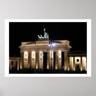 noche de Brandeburgo Berlín Póster