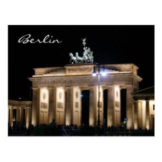noche de Brandeburgo Tarjetas Postales