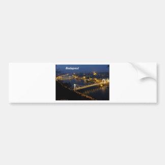 noche de Budapest [kan.k] Etiqueta De Parachoque