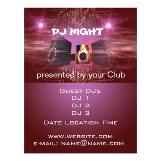 Noche de DJ Flyer A Todo Color