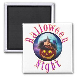Noche de Halloween Imán Cuadrado
