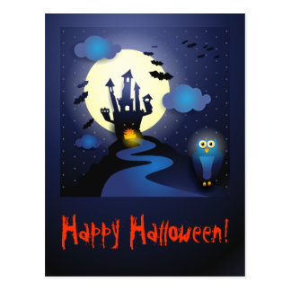 Noche de Halloween, postal