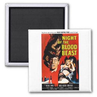 Noche de la bestia de la sangre iman de frigorífico