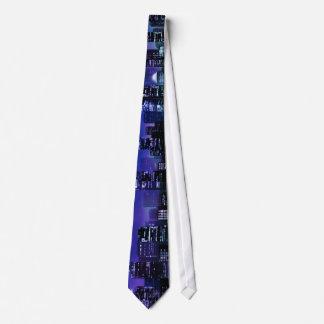 Noche de la ciudad corbatas personalizadas