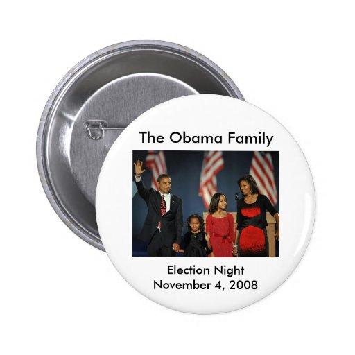 Noche de la elección de la familia de Obama Pin