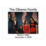 Noche de la elección de la familia de Obama Postal