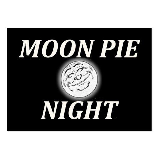 Noche de la empanada de la luna de la CAMISETA Tarjetas De Visita Grandes