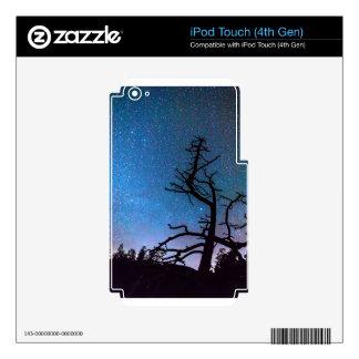 Noche de la fotografía astronómica calcomanías para iPod touch 4G