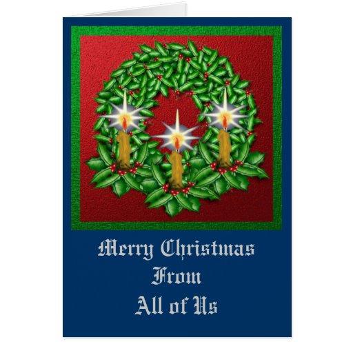 Noche de la guirnalda ligera del navidad tarjeta de felicitación