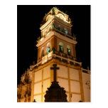 noche de la iglesia de Sucre Tarjeta Postal