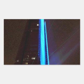 Noche de la inauguración de la presentación de luz pegatina rectangular