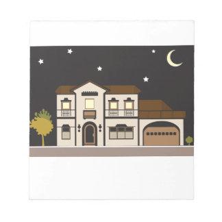 Noche de la mansión blocs de papel