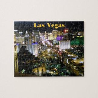 Noche de la opinión aérea de la tira de Las Vegas Puzzle Con Fotos