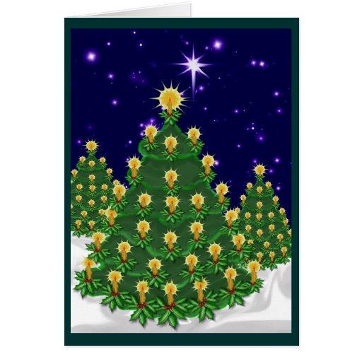 Noche de la tarjeta de Navidad ligera GN