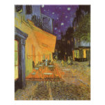 Noche de la terraza del café, impresionismo del póster