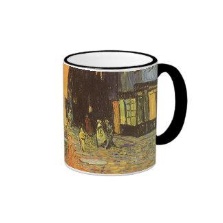 Noche de la terraza del café, impresionismo del taza de dos colores