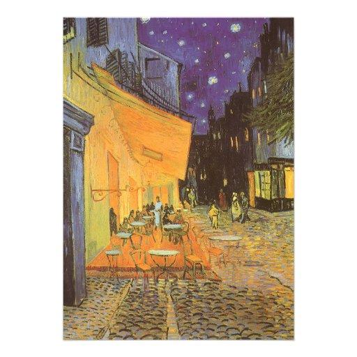 Noche de la terraza del café, impresionismo del vi anuncio personalizado