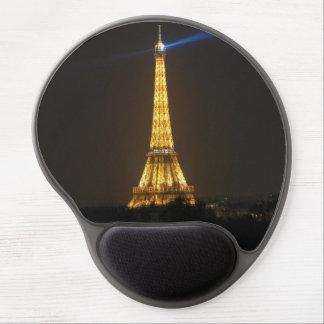 Noche de la torre Eiffel Alfombrilla Para Ratón De Gel
