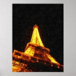 Noche de la torre Eiffel Impresiones
