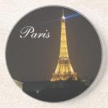 Noche de la torre Eiffel Posavasos Personalizados