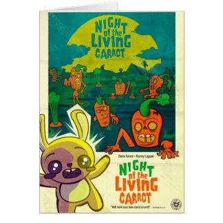 ¡Noche de la zanahoria viva! Tarjeta De Felicitación