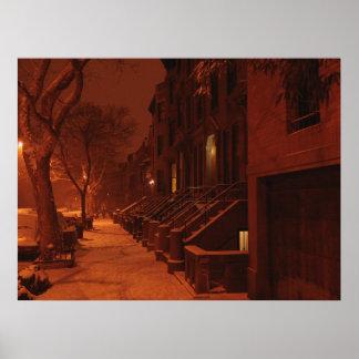 Noche de las areniscas de color oscuro Nevado Posters