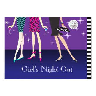 Noche de las chicas marchosas de la moda hacia invitación 12,7 x 17,8 cm