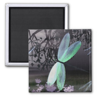 Noche de las libélulas iman de frigorífico