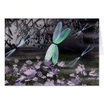 Noche de las libélulas tarjeta
