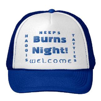 ¡Noche de las quemaduras!  Gorra del camionero