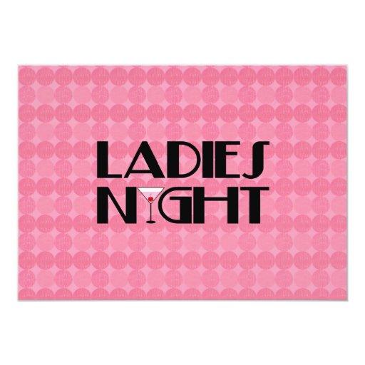 Noche de las señoras invitación 12,7 x 17,8 cm