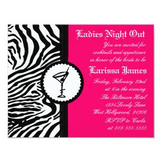 Noche de las señoras, invitación del fiesta de