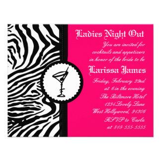 Noche de las señoras, invitación del fiesta de Bac