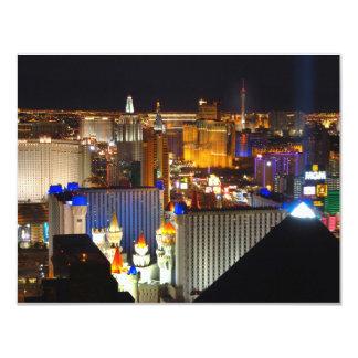"""Noche de Las Vegas Invitación 4.25"""" X 5.5"""""""