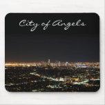 Noche de Los Ángeles Alfombrilla De Ratones