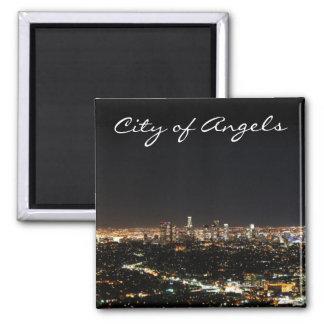 Noche de Los Ángeles Imán Cuadrado