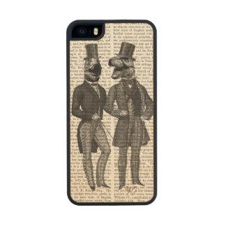 Noche de los chavales de los hombres del funda de arce carved® para iPhone 5 slim